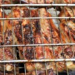 Barbeque fried on bonfire and coals — Stock Photo #40914257