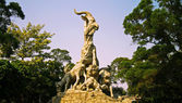 Five goats statue in Guangzhou city China — Stockfoto