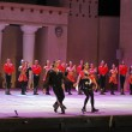 Fires of Anatolia. Performance in the amphitheater of Anatolia. — Stock Photo #48268823