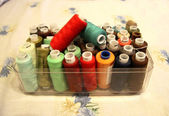 Threads Ready For Sewing in the open box — Stockfoto