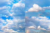 Cumulus cloudscapes — Stock Photo