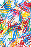 Many color paper clips — Stock Photo