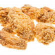 Several hot fried chicken wings - Foto Stock