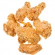 Several hot fried chicken wings - Stock Photo