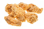 Several hot fried chicken wings — Stock Photo