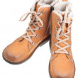 Pair of leather outdoor boots — Stock Photo #12957809
