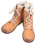Leder outdoor stiefel — Stockfoto