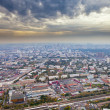 Panoramwith dark yellow clouds under autumn Moscow — Stock Photo #13368800