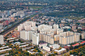 Modern urban residential district in autumn day — Stock Photo