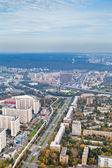 Calle prospect mira y paisaje urbano de moscú en día de otoño — Foto de Stock