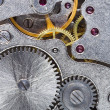 Steel gears of old mechanical watch — Stock Photo #14026555