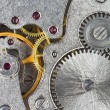 Stock Photo: Gears of old mechanic clockwork