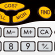 Stock Photo: Cost, sell, margin keys of financial calculator