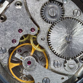 Steell clockwork of wristwatch — Stock Photo