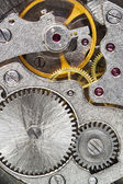 Steel machinery of old mechanical watch — Stock Photo