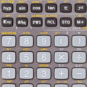 Keys of scientific calculator with mathematical functions — Stock Photo