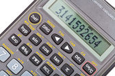 Display of scientific calculator with mathematical functions — Stock Photo