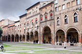Piazza Santo Stefano in autumn day in Bologna, Italy — Stock Photo