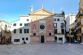Front view on view on Piazza dei Signori and Church of San Cleme — Stock Photo