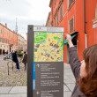 Outdoor Modena city map, Italy - Stock Photo