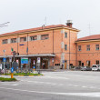 Building of railway station in Ferrara, Italy — Stock Photo #16831395
