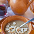 Stock Photo: Ferrarsoup with warm croutons