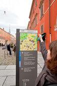 Outdoor Modena city map, Italy — Stock Photo