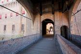 Bridge to The Castle Estense in Ferrara — Stock Photo