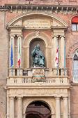 Bronze statue in palazzo d — Stock Photo