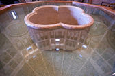 Font-stone with water in The Baptistery of Parma — Stock Photo