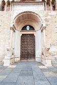 Door of Parma Cathedral (Duomo) — Foto de Stock