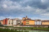 Parma stream, Italy in autumn day — Stock Photo