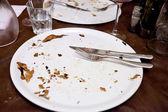 Prato branco vazio no restaurante italiano — Fotografia Stock