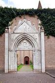 Entrance in basilica San Giovanni Evangelista in Ravenn — Stock Photo
