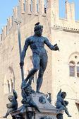 Fountain of Neptune on Piazza del Nettuno, Bologna — Stock Photo