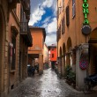 Medieval street in Bologna — Stock Photo