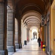Urban arcade in Bologna, Italy — Stock Photo