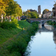 View on bridge in Padua - Stock Photo