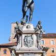 Fountain of Neptune with blue sky background, Bologna — Stock Photo