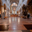 Stock Photo: Nave of ParmCathedral, Italy