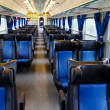 Leather seats and train intetior — Stock Photo
