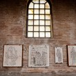 Fragments of Byzantine mosaics in Ravenna church — Stock Photo