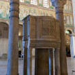 Ancient pulpit in Sant Apollinare Nuovo, Ravenna — Stock Photo