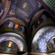 Stock Photo: Dark blue Mosaic of gallplacidimausoleum in Ravenn