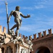 Statue of Neptune on Piazza del Nettuno in Bologna — Stock Photo