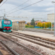 Last train on railroad station — Stock Photo #17329239