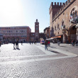 Постер, плакат: View of Corso di Porta Reno and Piazza Trento e Trieste Town Ha