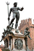Fountain of Neptune in Bologna, Italy — Стоковое фото