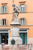 Sculpture of Luigi Galvani, Bologna, Italy — Stock Photo