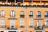Facade of medieval house in Padua Italy — Stock Photo